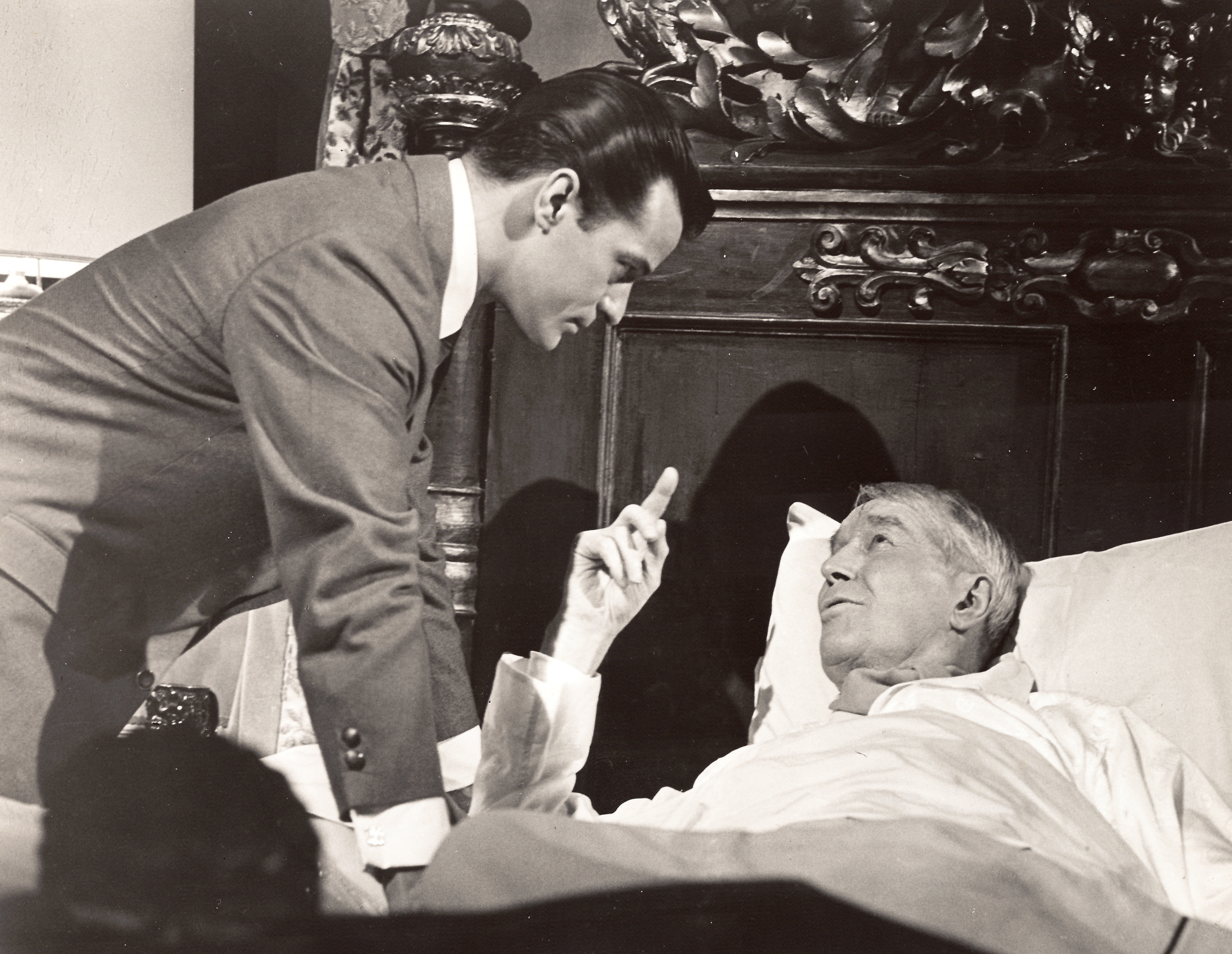"Robert Goulet and Maurice Chevalier in the movie ""I'd Rather Be Rich"""